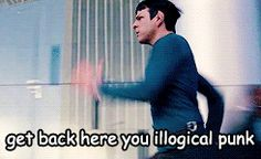 rexbasileus:  missdreamgirl32:  This GIF killed me  #I know he's chasing Khan but like #all I can picture is the day McCoy just says somethi...