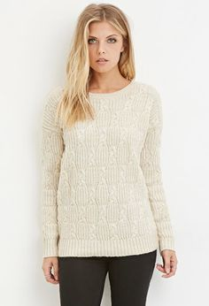 Contemporary Braided Crew Neck Sweater | Forever 21 - 2000059818