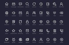 PSD Freebie: Simple icons PSD by Onlyoly