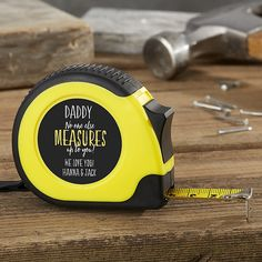 No One Measures Up Personalized Tape Measure, Gifts for Dad, Father's Day Gifts, Gifts for Him Cheap Fathers Day Gifts, Diy Gifts For Dad, Fathers Day Crafts, Daddy Gifts, Gifts For Him, Diy Birthday Gifts For Dad, Good Gifts For Dad, Diy Father's Day Gifts Easy, Homemade Fathers Day Gifts