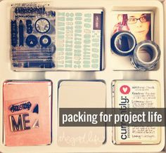 Vacation!  rukristin papercrafts: Packing a Kit for Project Life