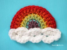 Repeat Crafter Me: Crochet Rainbow Applique...free pattern!