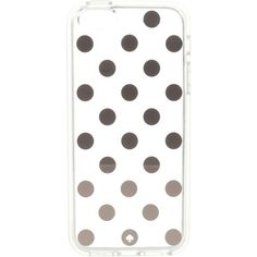 Kate Spade New York Le Pavillion Dot Clear Phone Case for iPhone 6c... ($28) ❤ liked on Polyvore featuring accessories, tech accessories, gold and kate spade