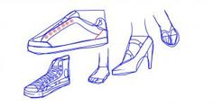 how to draw shoes step 4