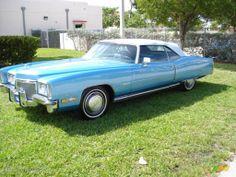 1972 Cadillac Eldorado Convertible - Blue Color / Blue Interior