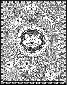 SPARK -- AMAZING ANIMALS Coloring Book by: Susan Shaw-Russell - Dover Publications COLORING PAGE 1