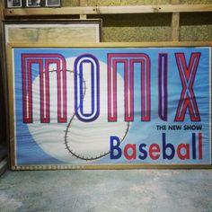 [25€] Poster Momix baseball anni80  #magazzino76 #viapadova76 #milano #vintage #modernariato #antiquariato #design #industrialdesign #furniture #mobili #modernfurniture #design #oggettistica #pezzirari #arredo #arredodesign #stampe #quadri #momix #baseball #anni80