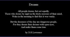 Beware of the day dreamers, for their dreams come true . . . @sharonohreally