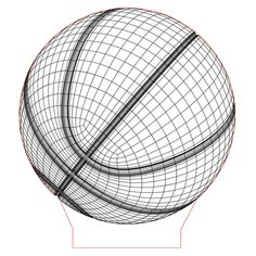Basketball ball 3d illusion lamp plan vector file for CNC - 3bee-studio
