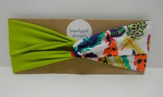 Turban Twist Headband: Lime and Multi Feathers   Custom Sizing by howdygirldesigns https://www.etsy.com/listing/195505329/turban-twist-headband-lime-and-multi?ref=shop_home_active_1