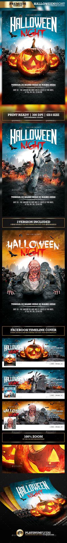 Halloween Party Flyer / Halloween Night - Clubs & Parties Events