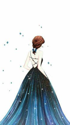 New Quotes Cute Girly Beautiful Ideas Girly Drawings, Cool Art Drawings, Cartoon Kunst, Cartoon Art, Chibi Manga, Cute Girl Drawing, Cute Girl Wallpaper, Trendy Wallpaper, Beautiful Anime Girl