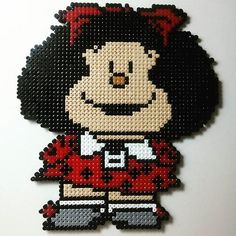 Mafalda hama beads by planeta_namek