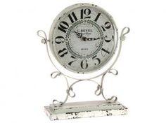 Reloj clásico metal blanco