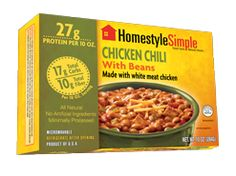 HOMESTYLE SIMPLE, convenient, controlled portion sized meals with protein and fiber, and sensible calories. No added sugar, oils, preservatives, wheat fillers, artificial colors or flavors. Our soybeans are non-GMO, and our microwaveable package is BPA-free. The unique packaging requires no refrigeration and heats in 90 seconds in the microwave. Portland, Oregon. (O / USA)