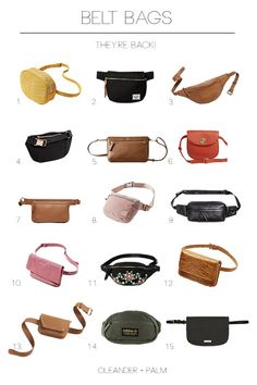 Fanny Packs, Bum Bags, or Belt Bags, whatever you call them – THEY ARE BACK! Personally I'm a fan. I almost always carry a crossbody bag because I love having my hands free. But, I have also been known to wear a belt bag. I got one about a year ago and I Leather Fanny Pack, Leather Belt Bag, My Bags, Purses And Bags, Waist Purse, Belt Purse, Sacs Design, Diy Sac, Bum Bag