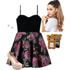 Ariana Grande Style by hanakdudley on Polyvore featuring polyvore, fashion, style, MINKPINK, Stuart Weitzman and TARA Pearls