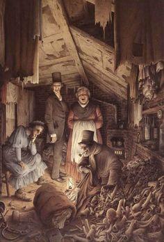 A Christmas Carol. Author Charles Dickens Illustrator Robert Innocenti Publisher Eksmo