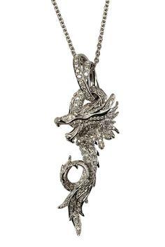 GABRIELLE'S AMAZING FANTASY CLOSET | Magnificent Dragon in 18k White Gold and Diamond Pave by Carrera y Carrera