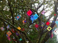 A Memory Tree Blooms in a Park Near You! A public art yarnbombing by nirvYARNah, 2015.