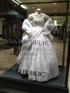 "This dress from recent movie, Anna Karenina, on display at ""the Grove"" in LA."