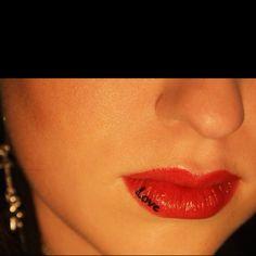 love written on lips