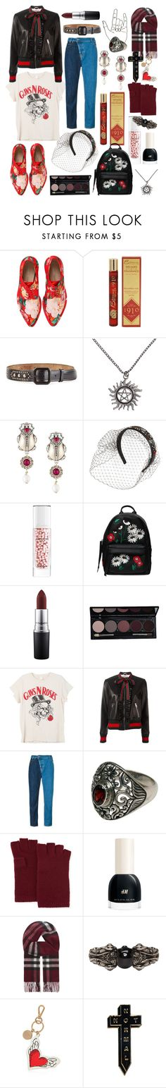 """""""who will open yr heart?"""" by nothingisnormal ❤ liked on Polyvore featuring Simone Rocha, Dsquared2, Alexander McQueen, RED Valentino, Guerlain, Chiara Ferragni, MAC Cosmetics, MadeWorn, Gucci and Vivienne Westwood Anglomania"""