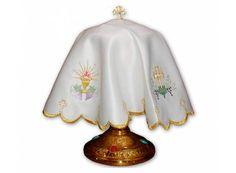 Cubre copón de poliéster con bordados en hilo de oro / Chalice Veil in polyester - Altar vessels http://www.articulosreligiososbrabander.es/cubre-copon-bordado-en-hilo-de-oro.html