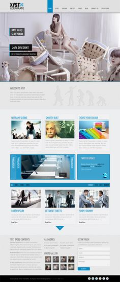 Xyst-Corporate Responsive Joomla Template by Premium Themes, via Behance
