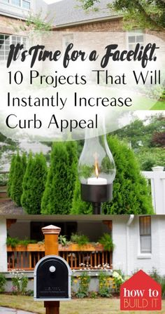 It's Time for a Facelift: 10 Projects That Will Instantly Increase Curb Appeal – How To Build It  Curb Appeal Projects, Curb Appeal Projects for the Home, Home Projects, Outdoor DIY, Yard and Landscaping Tips, Fast Home Improvement Projects, DIY Home Improvement Projects