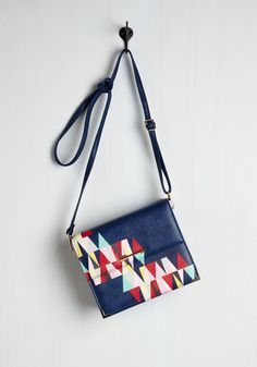 Personal Style Pep Talk Bag. Anytime an ensemble needs to exude a little more you, all youve got to do is add this navy bag by Disaster Designs! #multi #modcloth