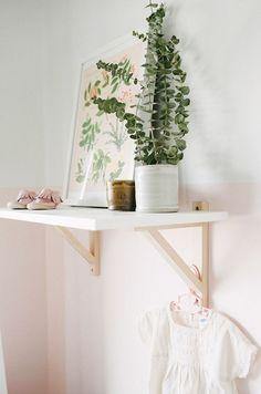 Sweetest, Peaceful Blush Nursery Minimal Decor, Handmade Details And  Natural Greenery.