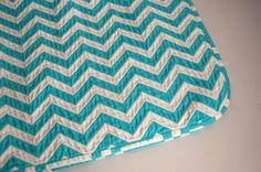 Sewing: Chevron Chenille Baby Blanket (Tutorial)