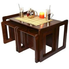 Multifunctional Nest of Coffee Tables One Table or Bench and Two Tables or Chairs Wooden Furniture or Children's Wooden Furniture Dark Set of Three by Obique, http://www.amazon.co.uk/dp/B00GRZL042/ref=cm_sw_r_pi_dp_PmUitb0HJ2NE9