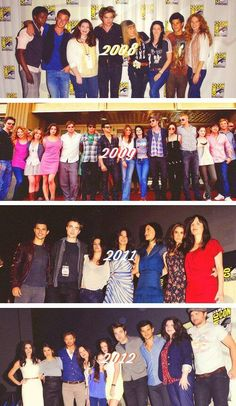 Comic-Con with the Twilight cast through the years.