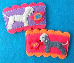 Bedlington terrier coffee cozies by Ecotrinkets - Amy Monthei