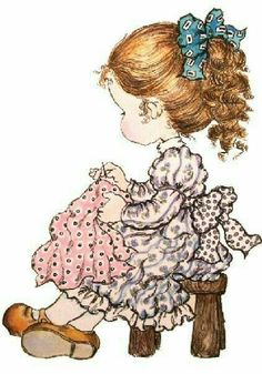 Sarah Kay by roslyn Sarah Key, Holly Hobbie, Mary May, Cute Images, Cute Illustration, Vintage Pictures, Vintage Cards, Cute Drawings, Cute Art