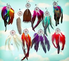 Handmade Dream Catcher Feather Earring Extra Long by Cloud9Jewels, $15.00