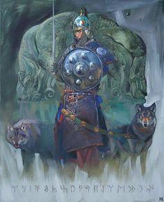 "Kazakh painter Nurlan Kilibayev. ""Ashina"""