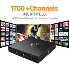 63.99$  Watch now  - X96 Android 6.0 Iptv Box IT UK DE Europe Arabic Smart TV Box For Spain Portugal Turkish Netherlands IUDTV IPTV Media Player