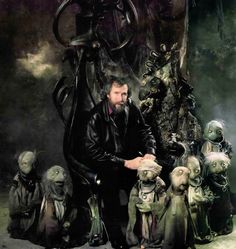 Henson with some of The Dark Crystal puppets