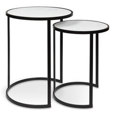 Grace your home space with the fresh, airy color and design of the Kate and Laurel Gracen Nesting Tables. Simple, modern tables provide coastal style for any contemporary home decor while its nesting abilities make them easy to store. Large Table, Small Tables, Wood Nesting Tables, End Tables With Storage, Wooden Tops, Modern Table, Rustic Modern, Contemporary Home Decor, The Fresh