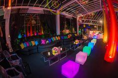 Festa balada 15 anos: pufe iluminado - Foto Bruno Felipe Fotografia