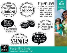 Parenting Style svg / Mom Life svg / mom svg / motherhood svg / svg bundle / svg files / svg for cricut / svg for silhouette / momlife svg
