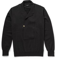 Nice pull-over idea for knit and woven fabrics or both together:  Alexander McQueen - Lightweight Wool Cardigan|MR PORTER