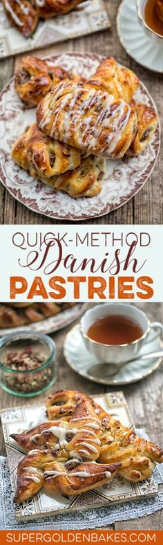 Quick-method Danish pastries with maple pecan filling and maple glaze. Totally irresistible!