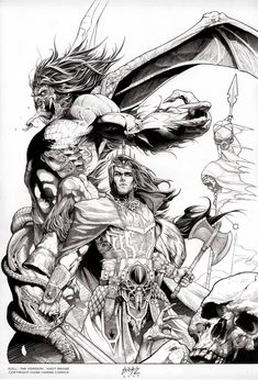 Kull #1 cover art by Andy Brase, 2008