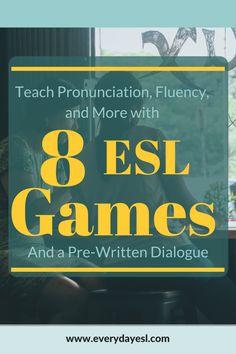Adult ESL | Pronunciation | Grammar | Vocabulary | ESL Games | Dialogue