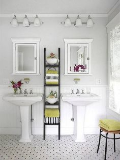 photos of bathrooms with two pedestal sinks - Google Search