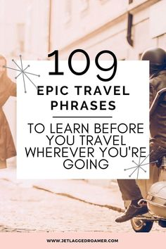 Heading abroad for a trip? Here I have 100+ travel expressions and travel phrases that are super helpful to know before you go. Learn travel phrases for greetings/farewells, exploring town, dining at a restaurant, emergencies, and much more. Check out his article for a smooth landing. Travel Phrases // Travel Terms // Travel Mistakes To Avoid // Travel Tips // Travel Phrases Inspiration Best Travel Apps, Travel Tips, Travel Hacks, Suitcase Packing, Travel Packing, Airplane Travel, Trip Planning, How To Plan, Sayings
